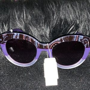 ETRO 52mm Oversized Sunglasses Violet and Paisley